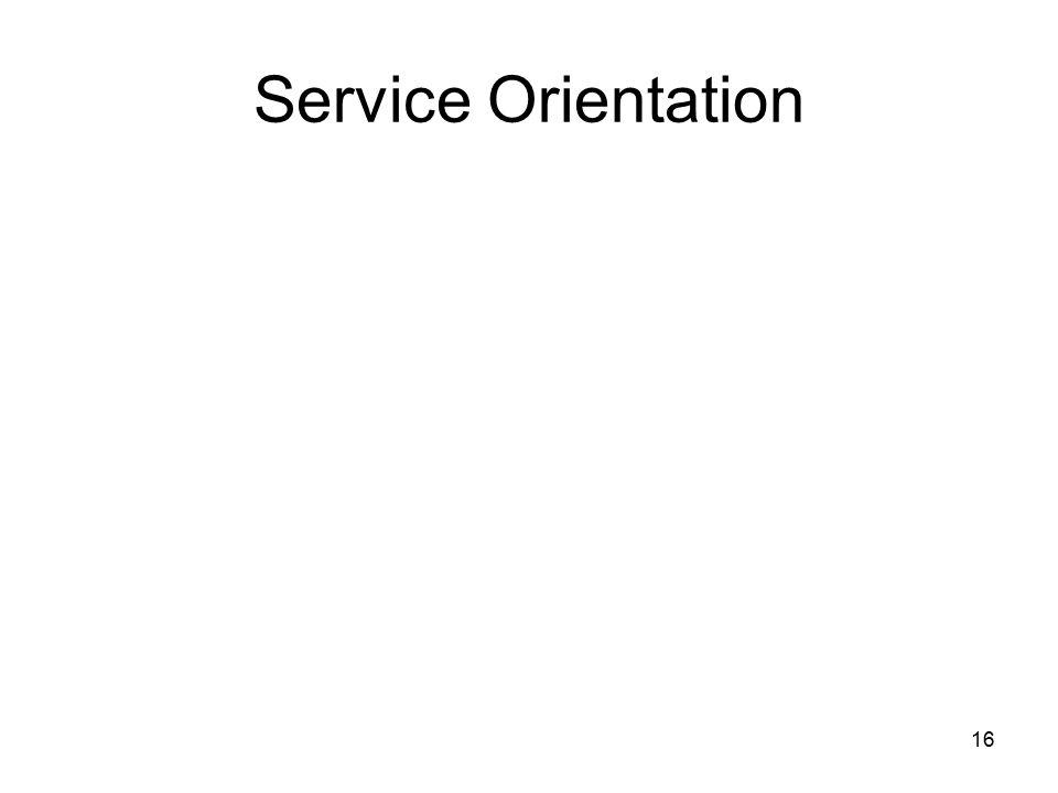 16 Service Orientation