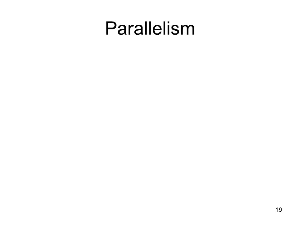 19 Parallelism