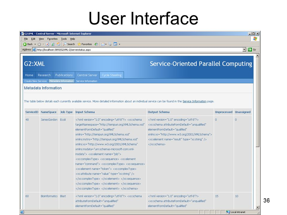 36 User Interface