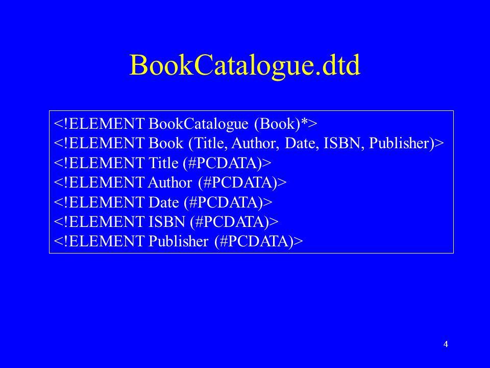 4 BookCatalogue.dtd