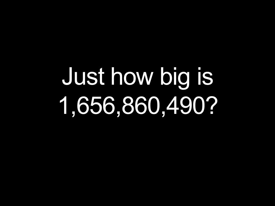 Just how big is 1,656,860,490?