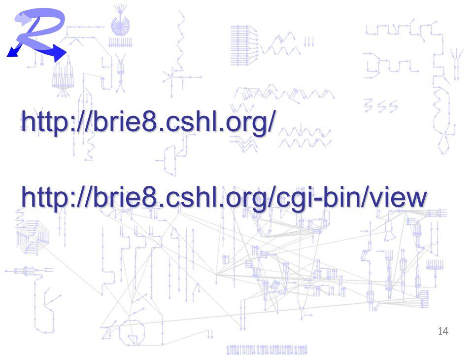 14 http://brie8.cshl.org/ http://brie8.cshl.org/cgi-bin/view