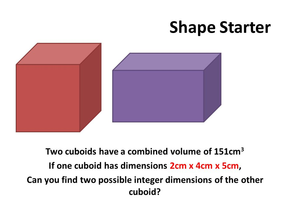 Shape Starter 37cm x 3cm x 1cm 111cm x 1cm x 1cm