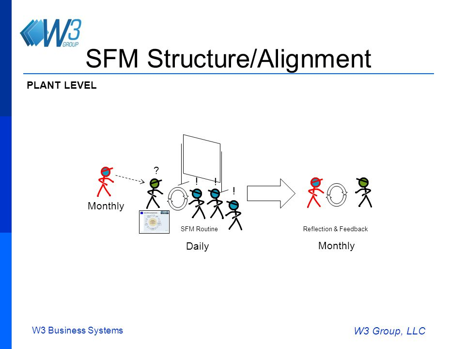 W3 Business Systems W3 Group, LLC SFM Structure/Alignment .