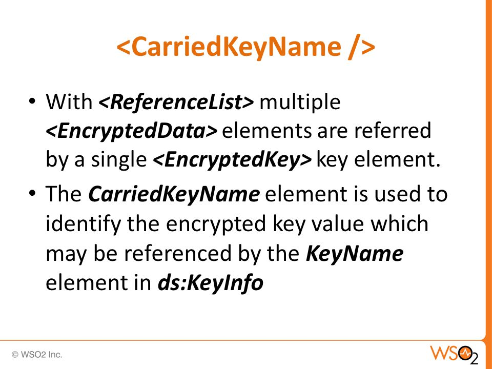 With multiple elements are referred by a single key element.