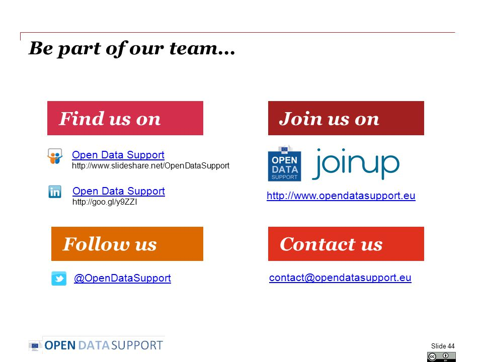 Be part of our team...
