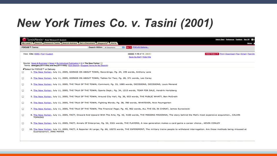 New York Times Co. v. Tasini (2001)