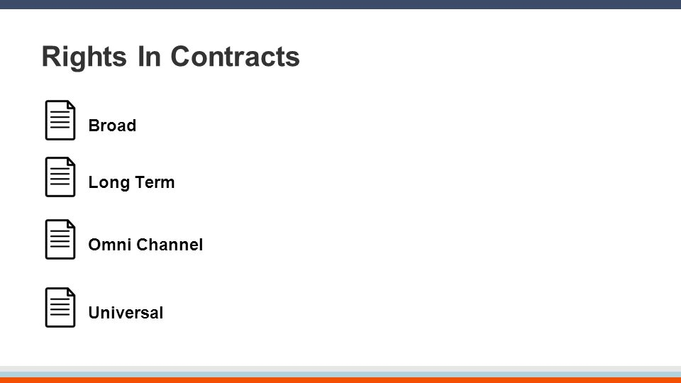 Rights In Contracts Broad Long Term Omni Channel Universal