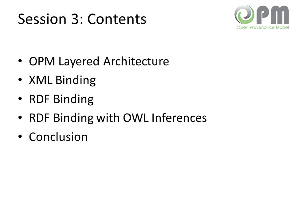 OPM LAYERED ARCHITECTURE