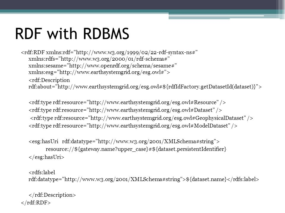 RDF with RDBMS resource://${gateway.name upper_case}#${dataset.persistentIdentifier} ${dataset.name}