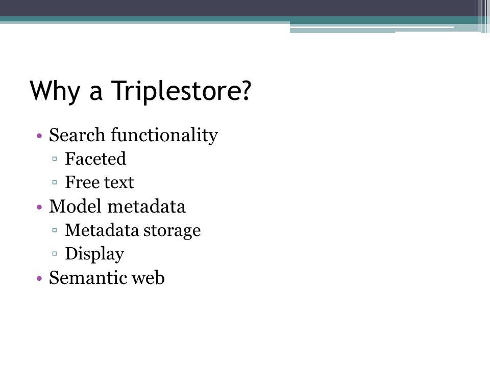 Why a Triplestore.