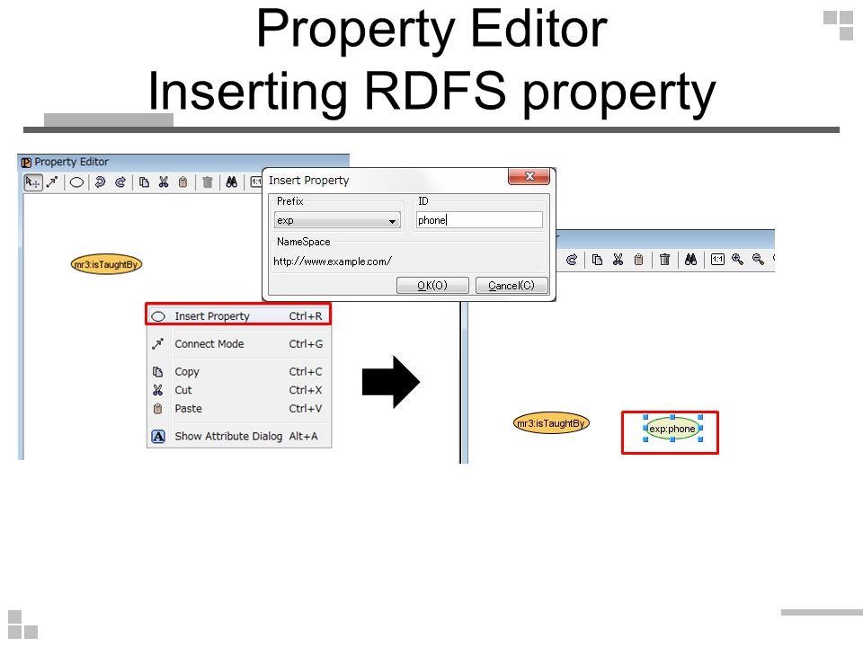 Property Editor Inserting RDFS property