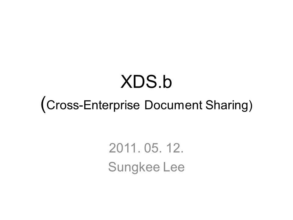XDS.b ( Cross-Enterprise Document Sharing) 2011. 05. 12. Sungkee Lee