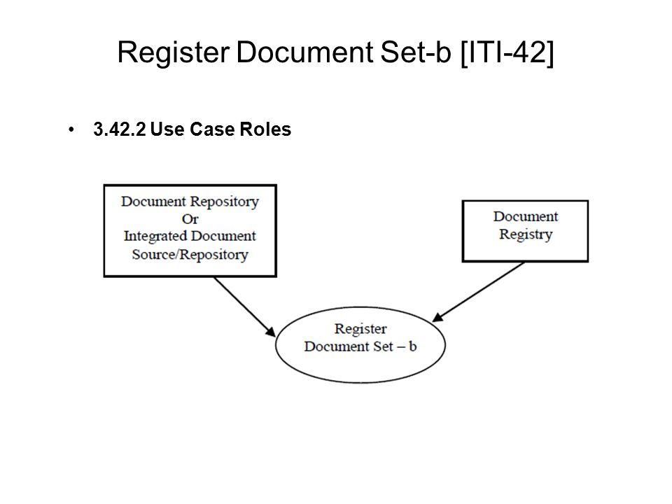 Register Document Set-b [ITI-42] 3.42.2 Use Case Roles