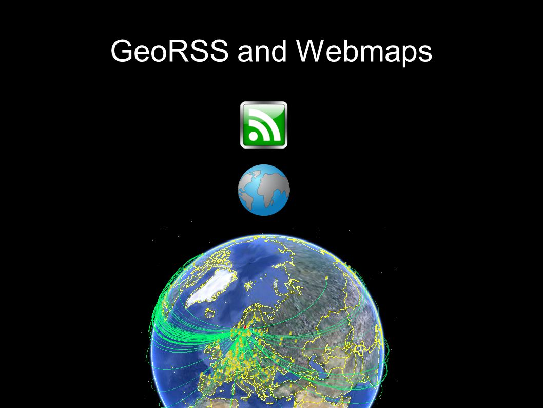 GeoRSS and Webmaps