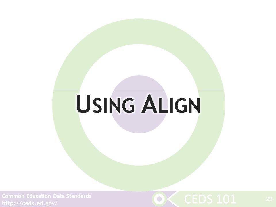 CEDS 101 Common Education Data Standards http://ceds.ed.gov/ 29