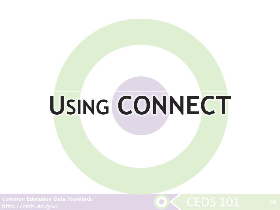 CEDS 101 Common Education Data Standards http://ceds.ed.gov/ 36