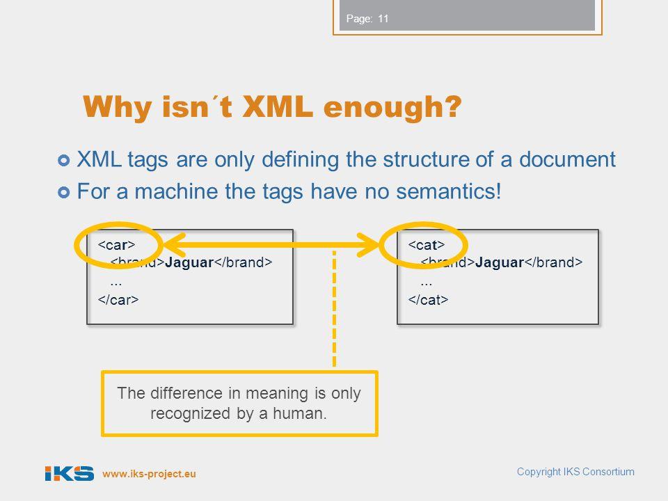 www.iks-project.eu Page: Why isn´t XML enough.