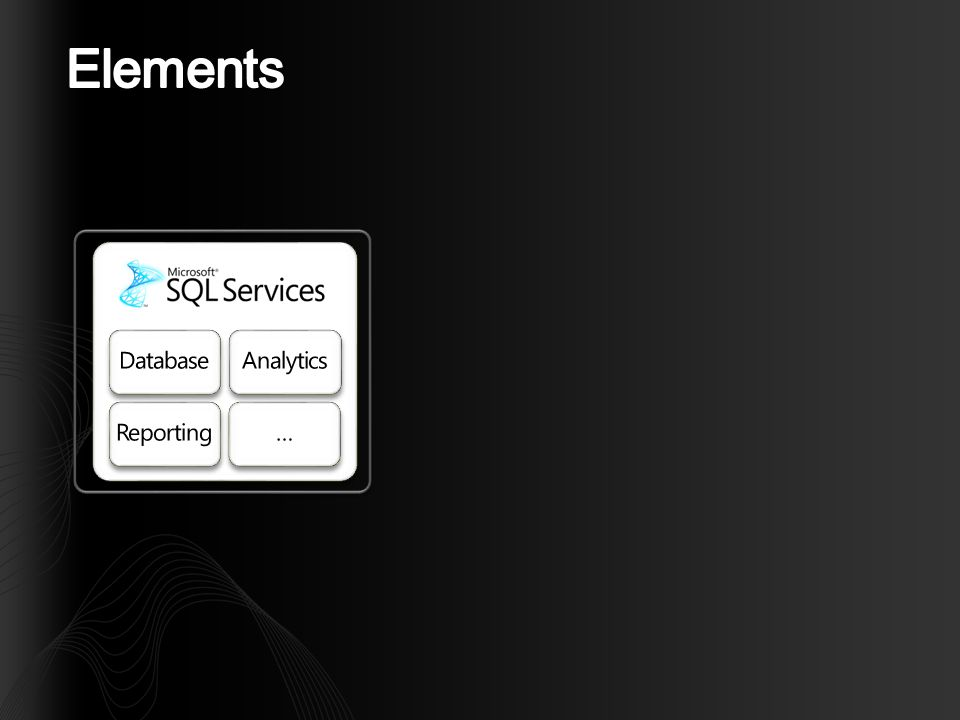 Database ACE model Datatypes Administration and API (REST and SOAP interface) Tools (Windows) Roadmap