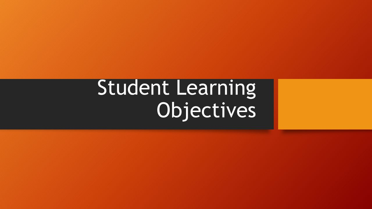 1.What is a student learning objective.
