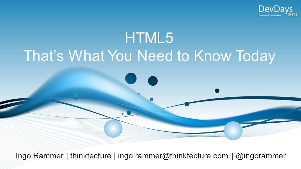 HTML5: When will it be ready?