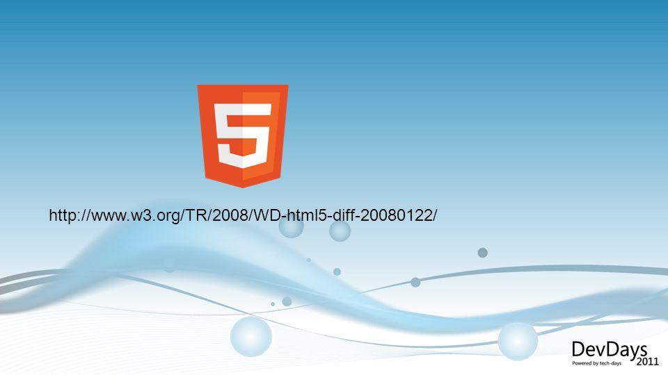 HTML5: Application Cache http://bit.ly/3fVYjc (work in progress)