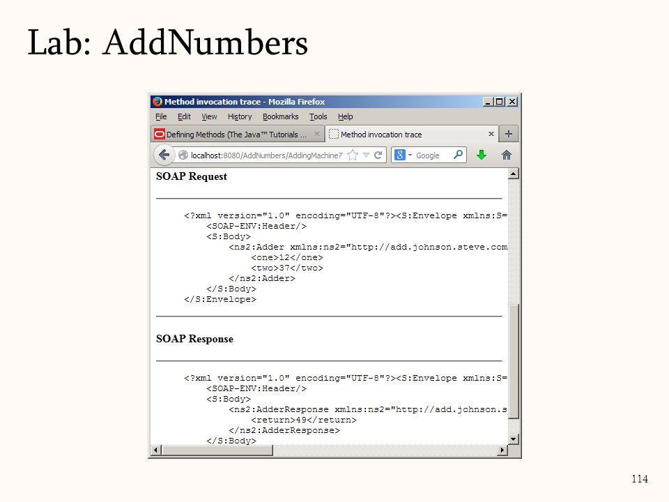 114 Lab: AddNumbers