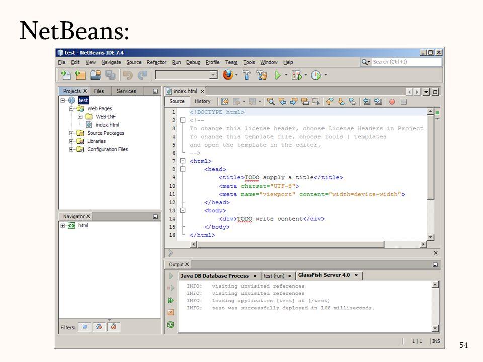 NetBeans: 54