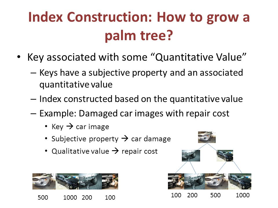 Index Construction: How to grow a palm tree.