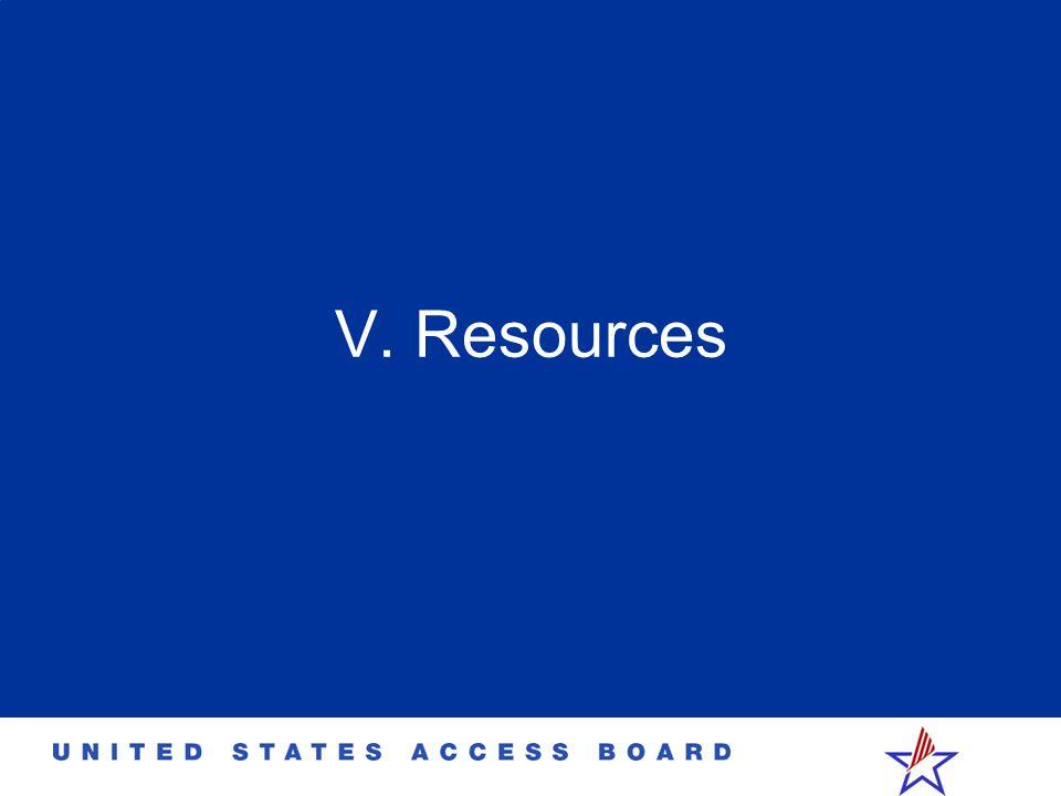 V. Resources