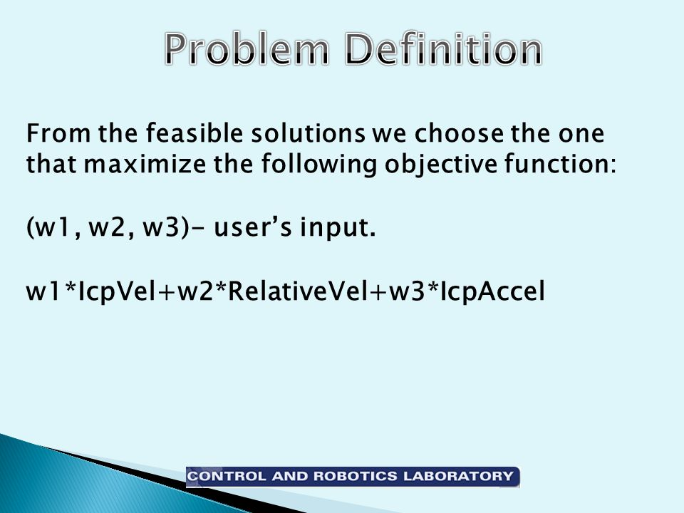 From the feasible solutions we choose the one that maximize the following objective function: (w1, w2, w3)- user's input.
