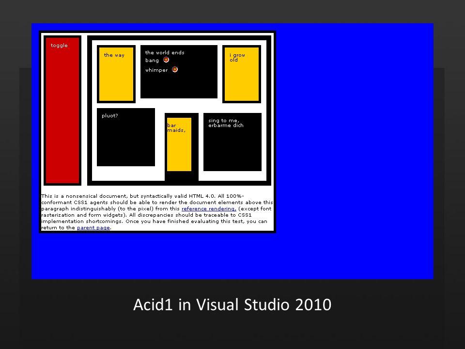 Acid1 in Visual Studio 2010