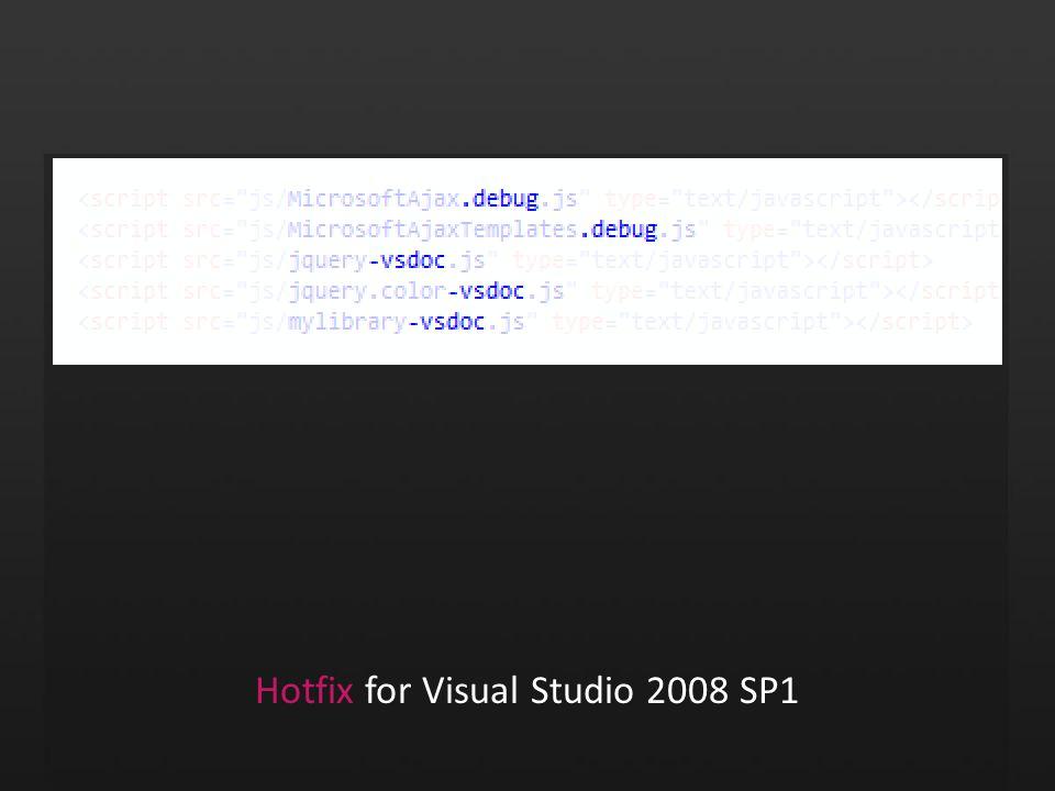 Hotfix for Visual Studio 2008 SP1