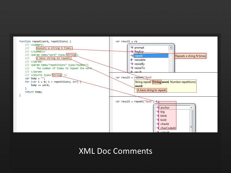 XML Doc Comments