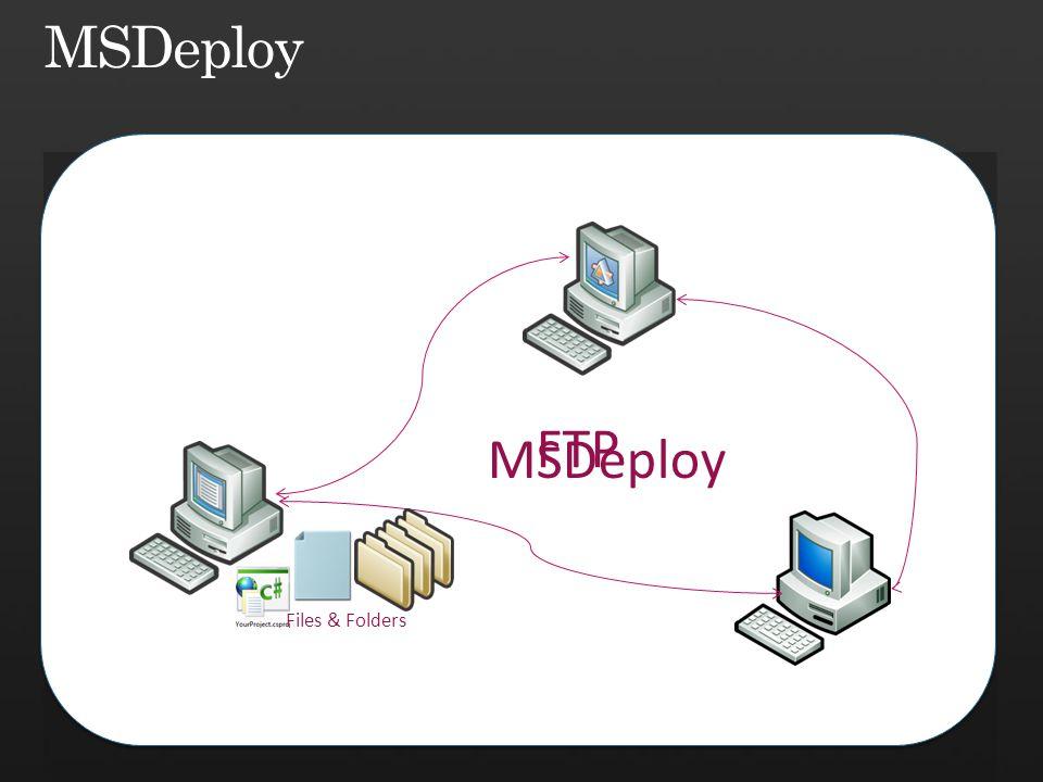 Files & Folders FTP MSDeploy