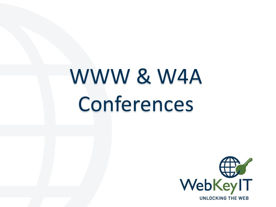 WebKeyIT WWW 2017 is coming to Perth.