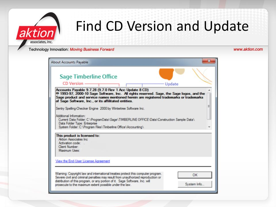 Find CD Version and Update