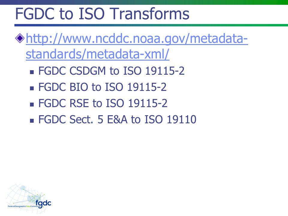 Validation Checker and Xlink Resolver http://www.ngdc.noaa.gov/MetadataTransform/XLink Resolver.jsp