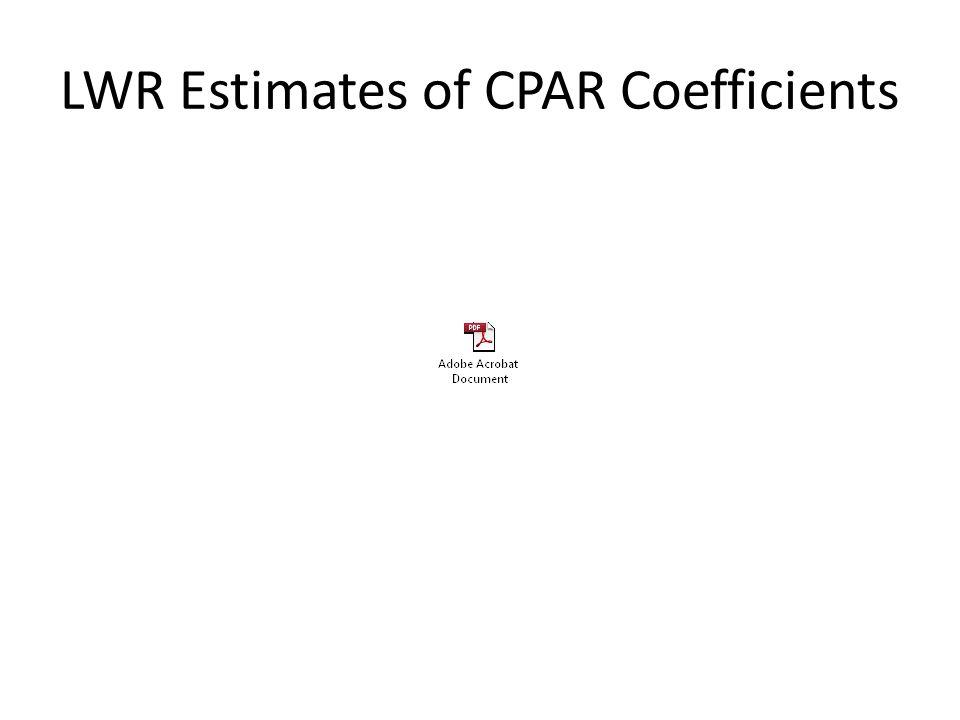 LWR Estimates of CPAR Coefficients