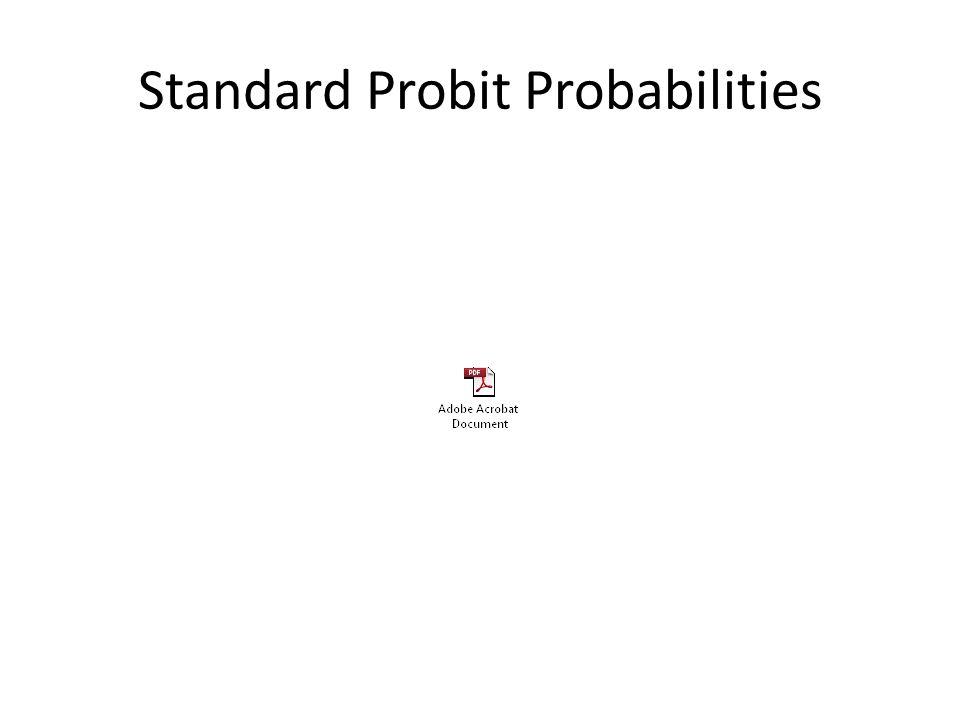 Standard Probit Probabilities