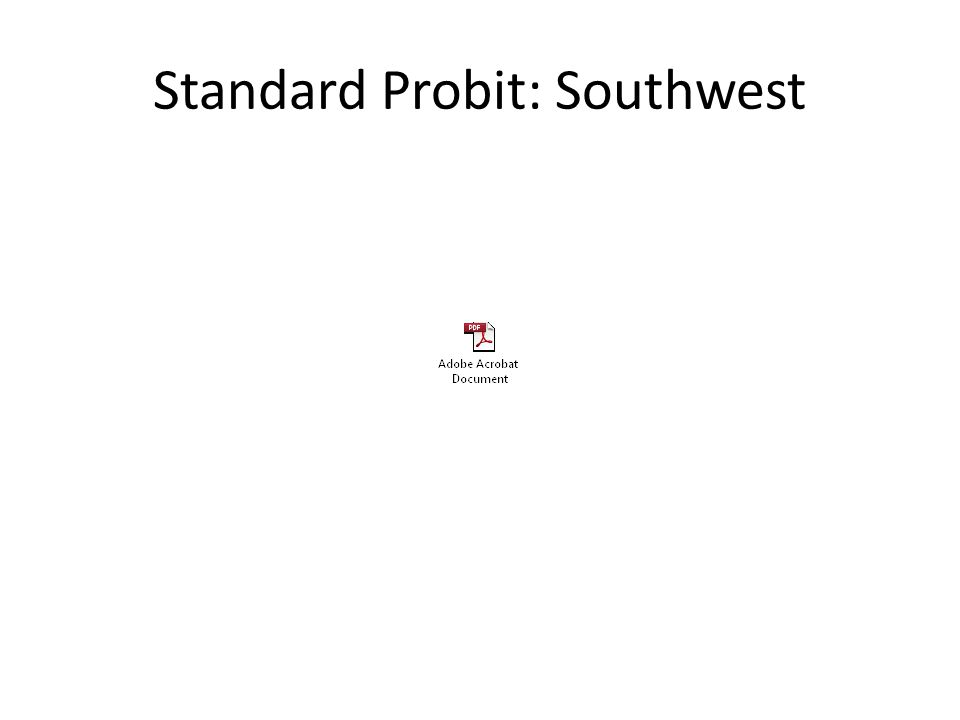 Standard Probit: Southwest