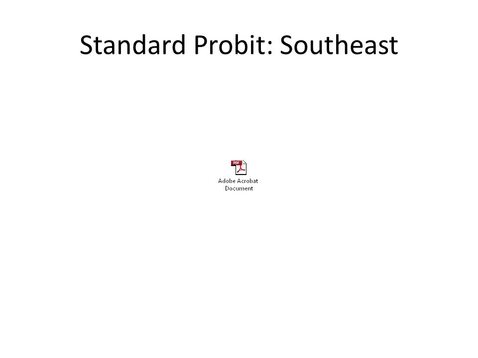 Standard Probit: Southeast