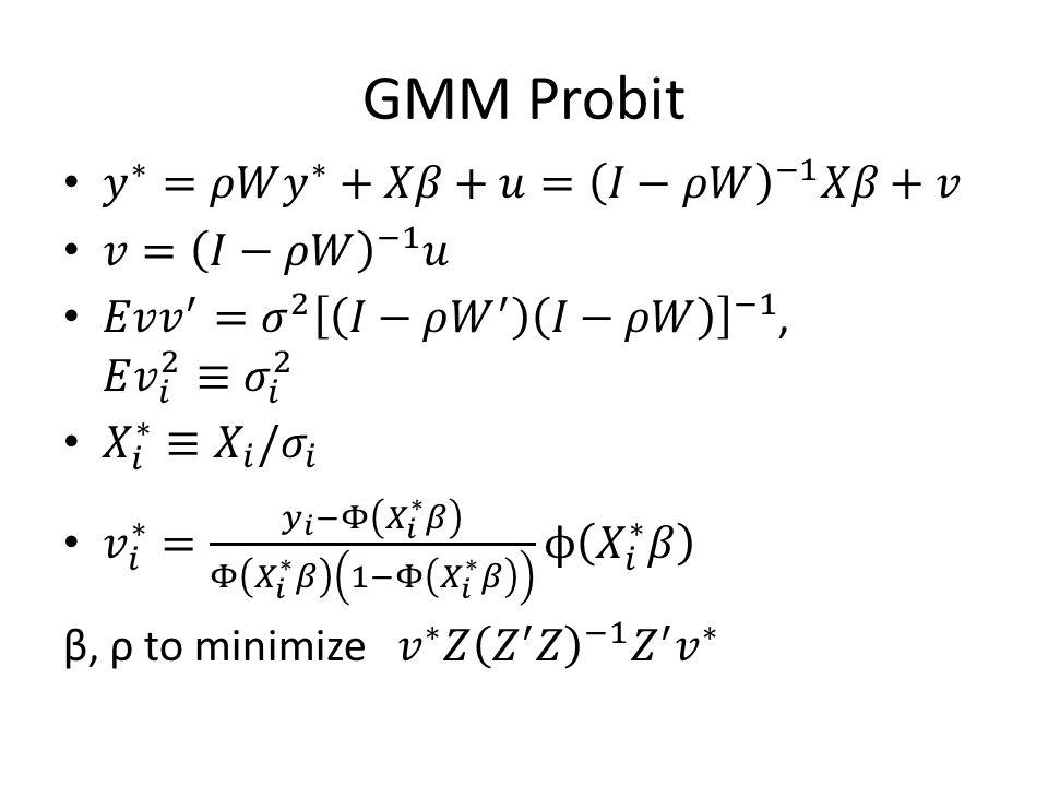 GMM Probit