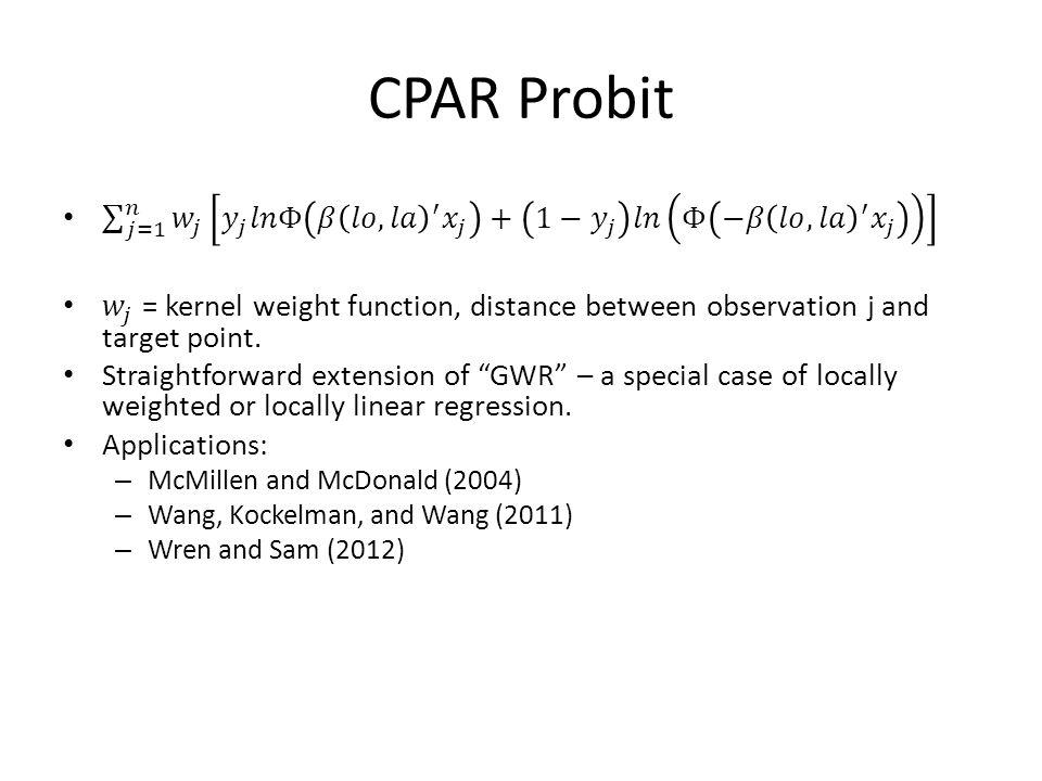 CPAR Probit