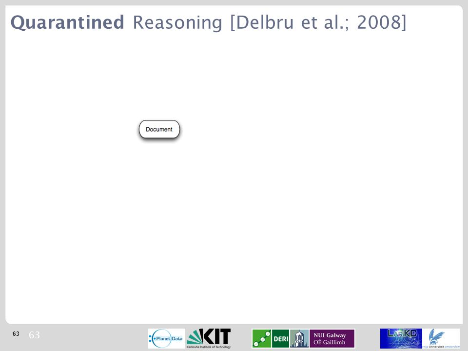 63 Quarantined Reasoning [Delbru et al.; 2008]