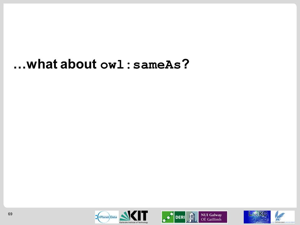 69 …what about owl:sameAs
