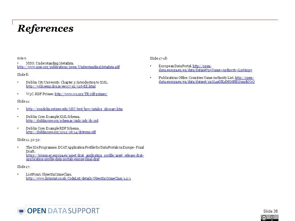 References Slide 6: NISO. Understanding Metadata.