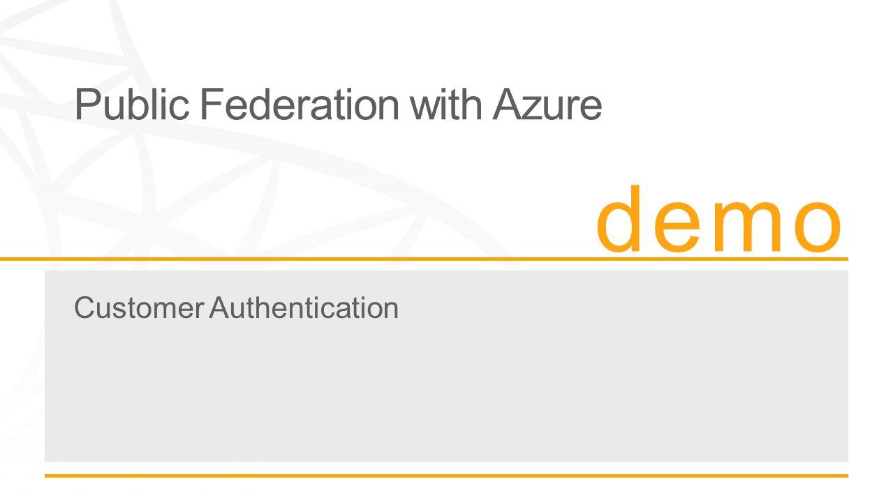 Public Federation with Azure