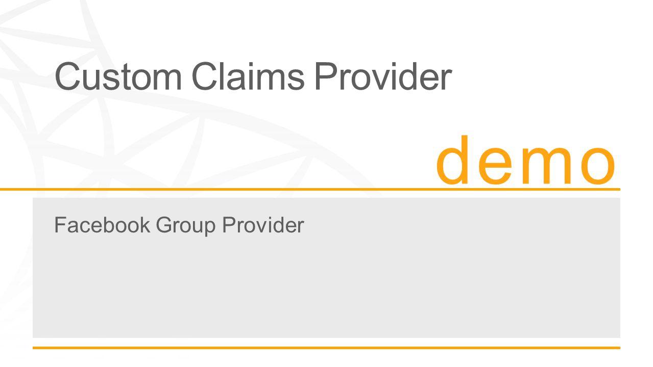 Custom Claims Provider