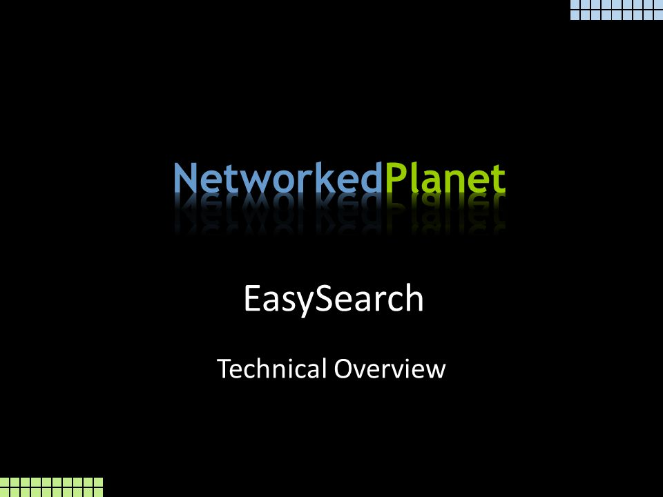 EasySearch Technical Overview